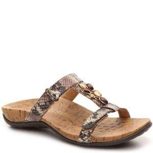 Vionic VIVIANA brown jeweled snakeskin sandals 10